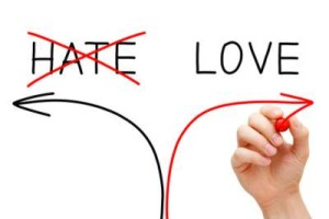 Love And Hate Are Polarities On A Single Spectrum