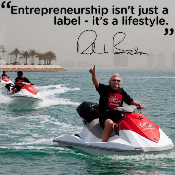 Richard Branson is passionate about all he does.