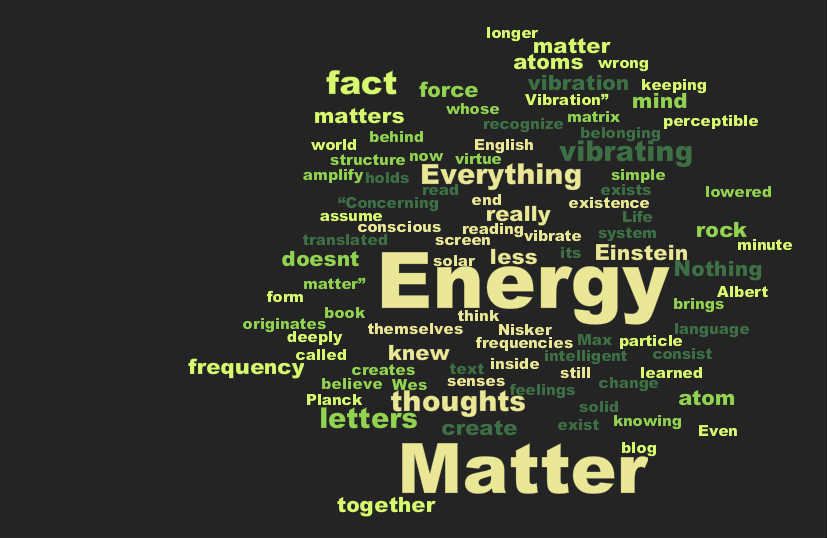 We do not need to know the relationship between matter and energy to make Laws Of Attraction work